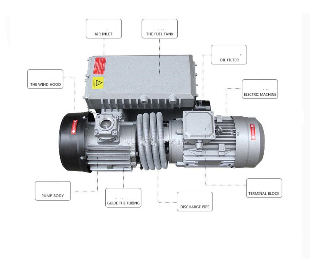 XD-100 100m³/h 3000W Rotary Vane Vacuum Pumps Vacuum Machine Motor Suction Pump 380V