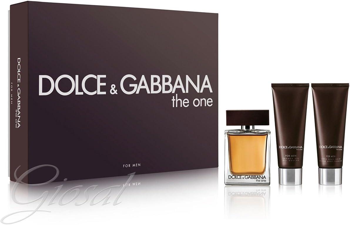 Giosal - Estuche para hombre Dolce & Gabbana The One D&G, perfume EDT para después del afeitado: Amazon.es: Belleza