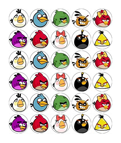 Angry Birds Cupcake Toppers Edible Paper BUY 2 GET 3RD FREE]()