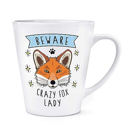Beware Locas Zorro Mujer 0,35L Latte Taza: Amazon.es: Hogar