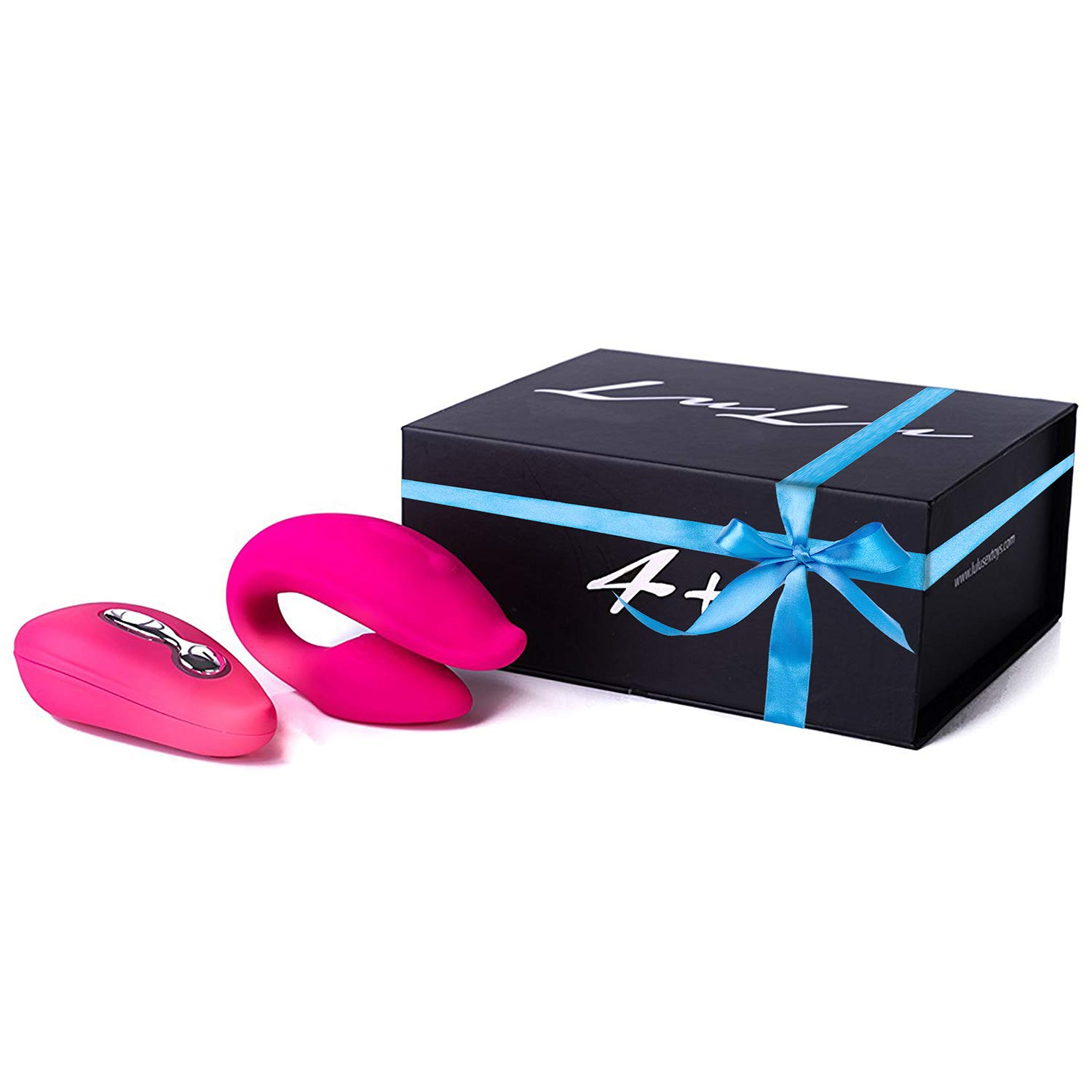 ❤️ LuLu 4 Plus - Wireless Waterproof Dual Vibrator For Him Her & Couples, 5 Unique Patterns, Made Of Body Safe Silicone - Rose Red