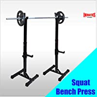 Adjustable Squat Rack - Barbell Bar Squat Stand - Home Gym