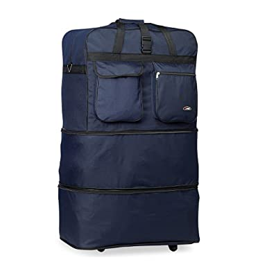 Image Unavailable. Image not available for. Color  Rolling Wheeled Duffle duffel  Bag spinner Suitcase Luggage ... 131b4a867d3b9