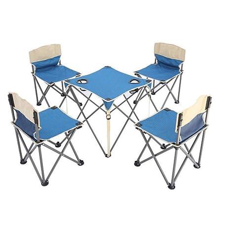 Limeinimukete Juego de 5 mesas Plegables y sillas de Camping ...