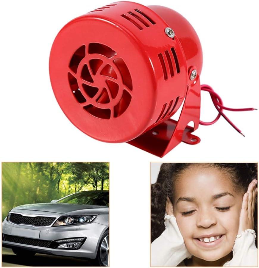 12V Fealay Electric Car Truck Motorcycle Driven Air Raid Siren Horn Alarm Loud 50s Red