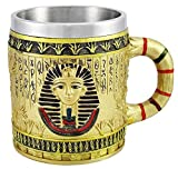 king cobra beer - Egyptian Theme Golden King Tut Pharaoh of Egpyt Dynasty Beer Stein Tankard Coffee Cup Mug Great Gift For Ancient Egyptian Culture Lovers School Classroom Decor Office Desktop Accessory
