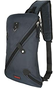 Larswon Sling Bag, Lightweight Large Chest Bag Laptop Backpack Shoulder Bag for Men Women Blue