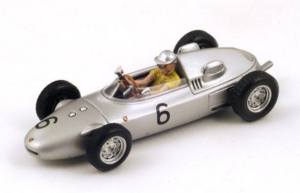 Spark Model S1867 Porsche 718 H.Herrmann 1961 N.6 9th Monaco GP 1:43 Die Cast