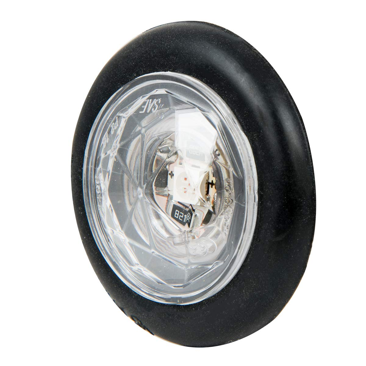GG Grand General 75311 Light 1-1//4 Amber//Clear Diamond Lens 1 LED Dual Funt. with Grmt