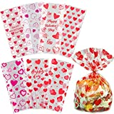 Valentine Cellophane Bags, 120 Pack with Twist Ties,Valentine Gift Bags for Kids, Perfect Valentines Treat Bags, Valentines Goodie Bags, 7 Assorted Styles: more info