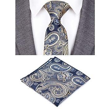 IG Corbatas de moda para hombres Diseño Corbata de lazo a rayas a ...