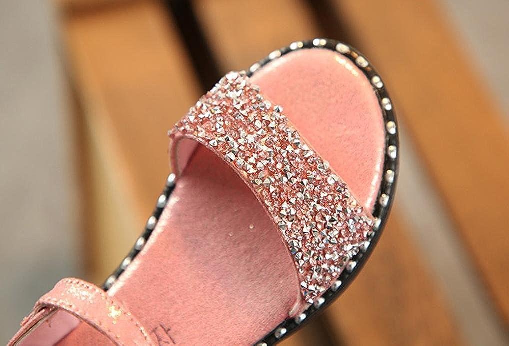 Lanhui Child Kids Girls Rabbit Ear Crystal Princess Sandals Casual Roman Shoes