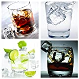 LuckyStar365 20 PCS Clear Acrylic Ice Cubes