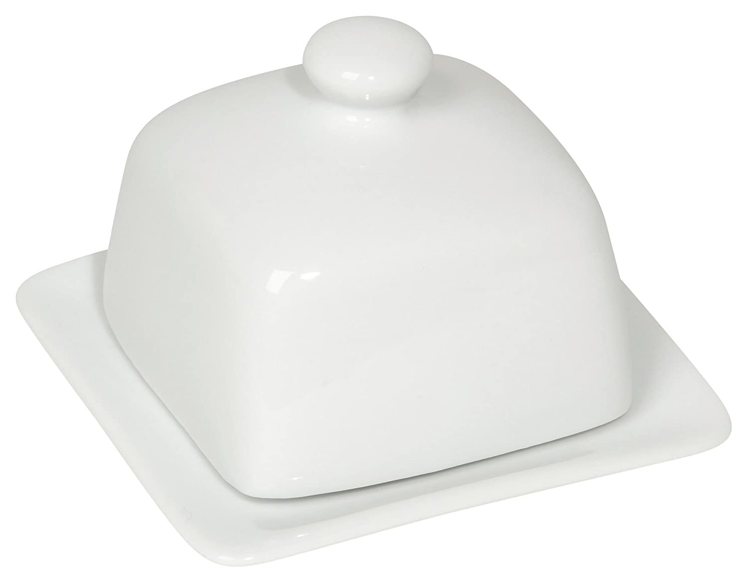 amazoncom now designs square butter dish white kitchen  dining -