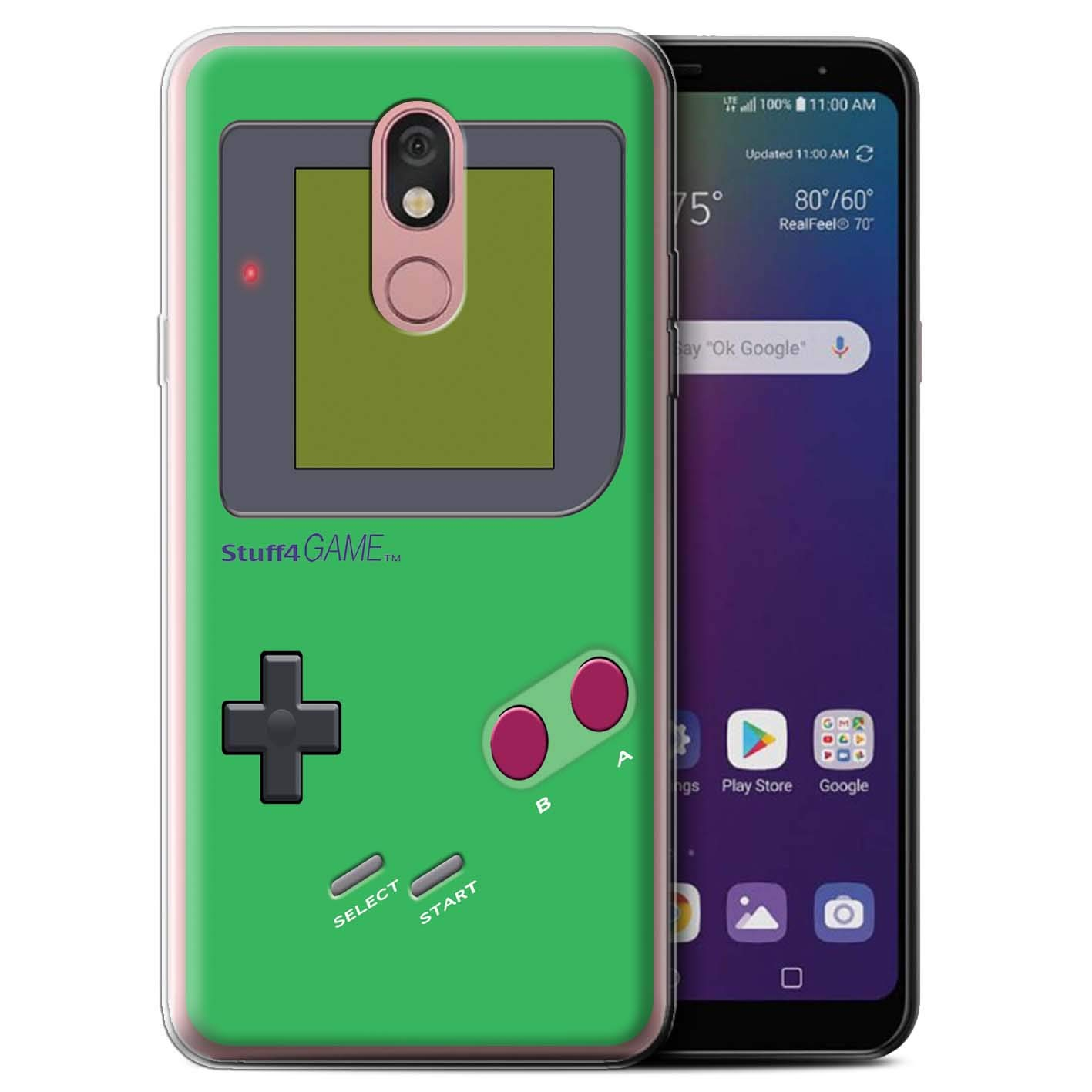 eSwish Gel TPU Phone Case/Cover for LG Stylo 5 / Green Design/Video Gamer/Gameboy Collection