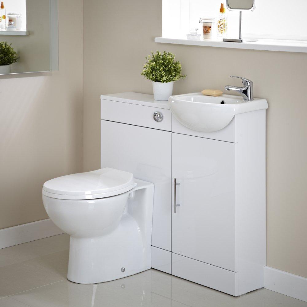 Toilet And Sink In One Bathroom En Suite Vanity Unit One Tap Hole Basin Sink And Toilet