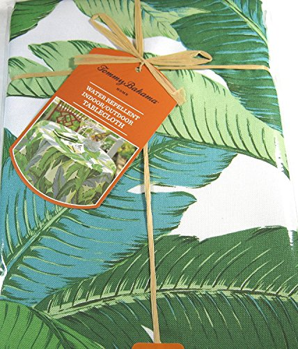 - io-D120 Tommy Bahama Banana Leaves 60 x 120 Tablecloth Indoor Outdoor Water-Repellent Summer Picnic Patio