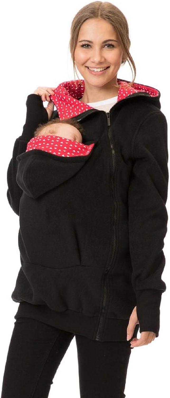 GoFuture 4in1 Babytragejacke f/ür Mama,Papa und Baby K/änguru Tragejacke aus Fleece mit Baby und Schwangerschaftseinsatz