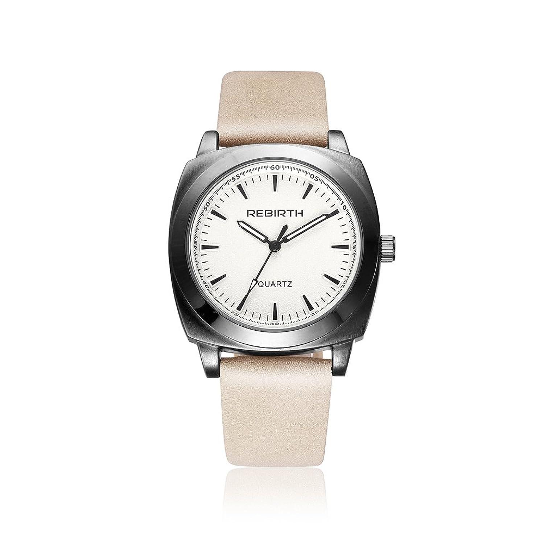 ファッション腕時計RebirthブランドクオーツMan Watchesレザー手首バンドWatch B06Y5JQK48
