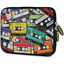 Amzer 7.75-Inch Designer Neoprene Sleeve for Tablet, eBook, Netbook - Audio Cassette Scatter (AMZ5036077)