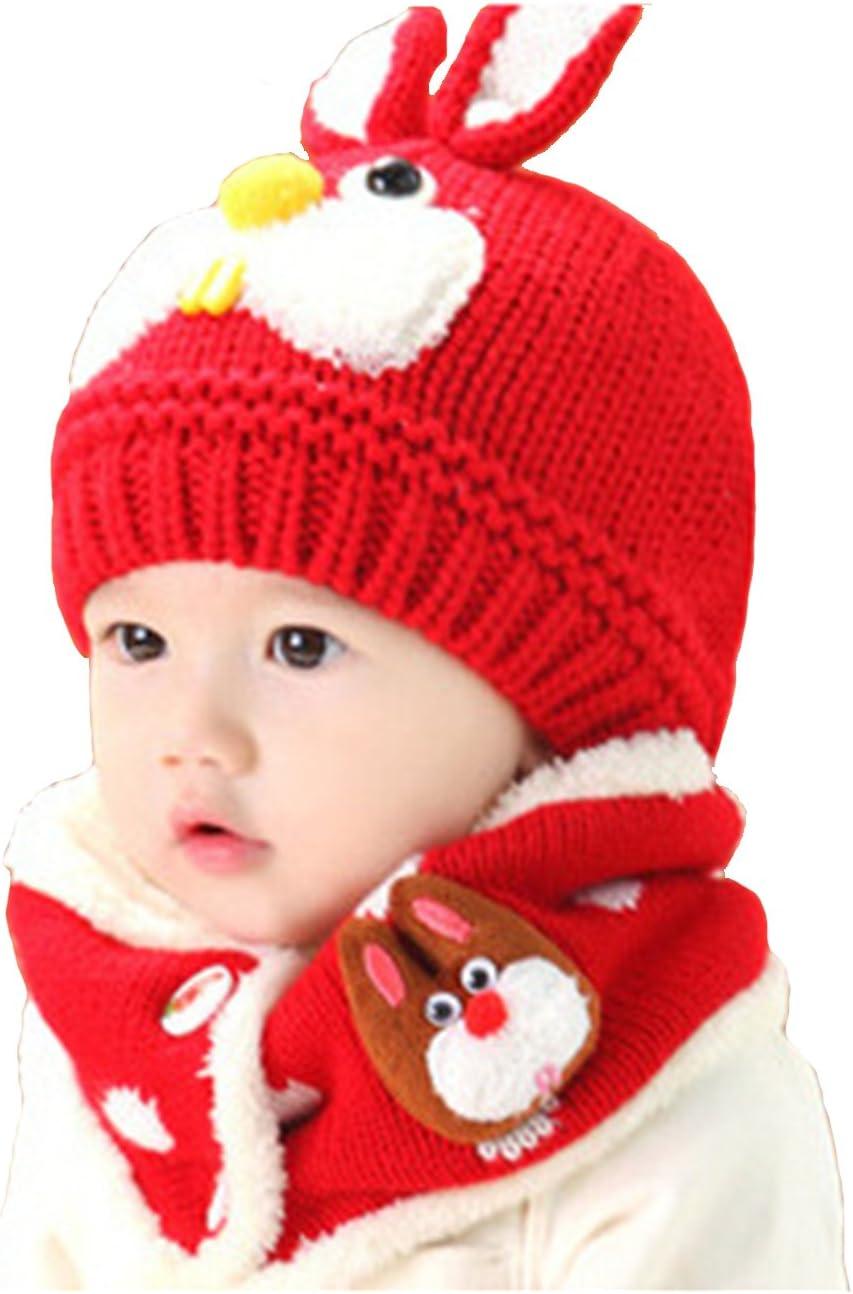 Warm Winter Wool Hat Cap Coif Hood Scarf For Toddler Boy Girl Baby Kids Cute