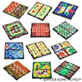 "Magnetic Travel Games Set Includes 12 Fun Games 5"" Individually Boxed Great for Road Trip Travel Gift for Kids Ages 6+"