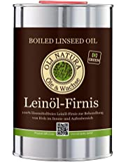 OLI-NATURA Leinöl-Firnis, ökologischer Holzschutz, 1 Liter, farblos - natur
