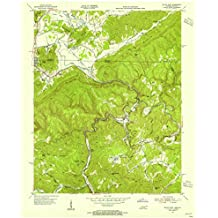 Tennessee Maps | 1953 Jellico East, TN USGS Historical Topographic Map |Fine Art Cartography Reproduction Print