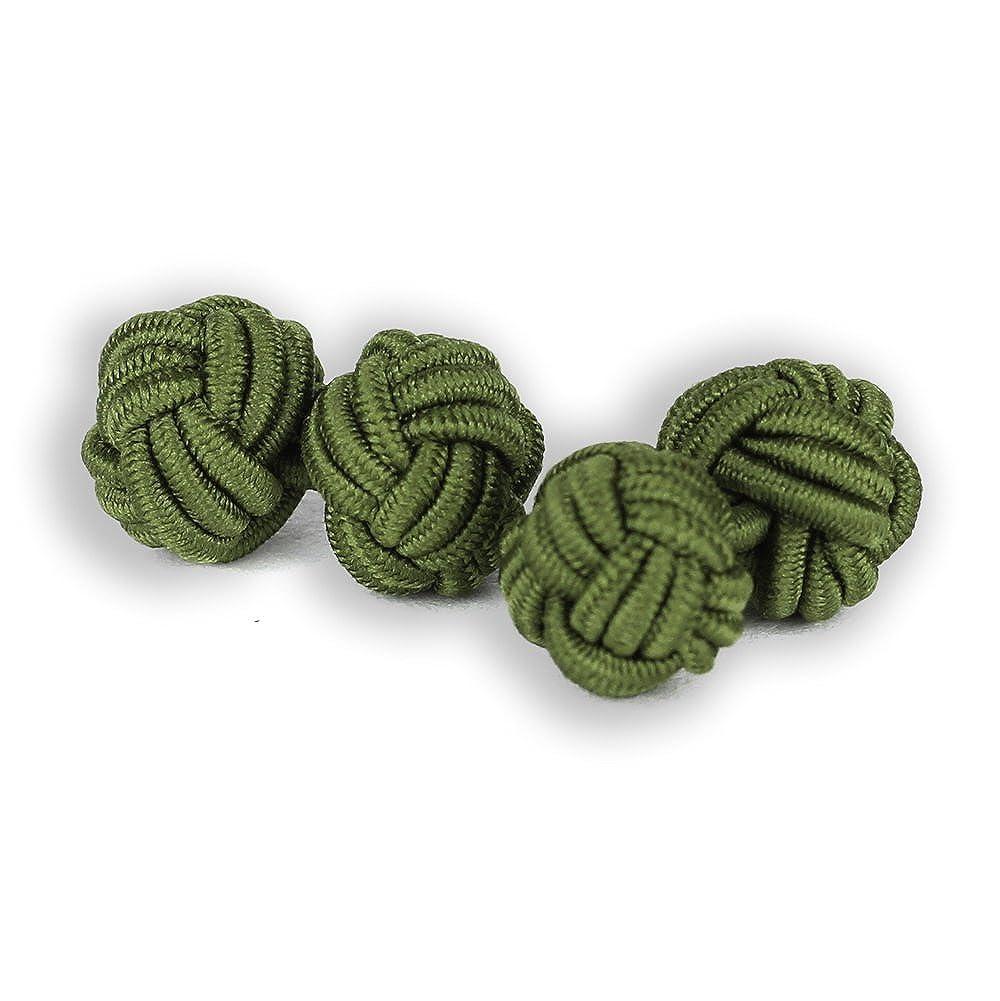 Soie nœuds boutons de manchette | nœuds | Vert | plastique soie nodules | fabriqué à la main | pour chaque Chemise avec enveloppe de manchette manchette | mariage Insignitum 01-04-03