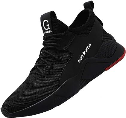 COOU Zapatos de Seguridad Comodo Hombre Mujer con Puntera de Acero S3 Calzado de Trabajo Botas de Trabajo de Seguridad: Amazon.es: Zapatos y complementos