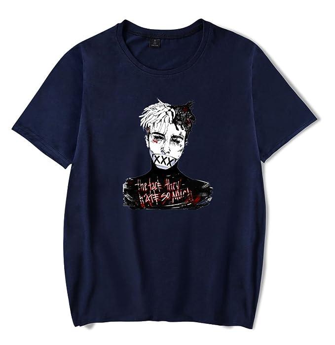 SIMYJOY Pareja R.I.P Xxxtentacion Camiseta Cool Rapper Tshirt Hip Pop Top para Hombre Mujer Adolescente 2aClMkADfV
