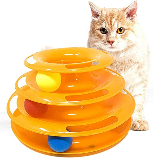ZYZ Juguetes para Gatos Torre de Pistas Nivel 3 Pistas para Gatos ...