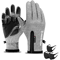 Winter Warm Gloves Touch Screen Driving Gloves Water Resistant Windproof Cold Weather Sports Gloves for Running Cycling…