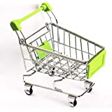 WHBLLC-Mini Supermarket Shopping Cart Pet Bird Parrot Hamster Toys Cart Parrot Trolley