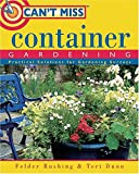 img - for Can't Miss Container Gardening book / textbook / text book