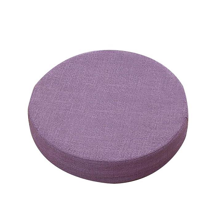 Amazon.com: Almohada redonda de meditación, almohada gruesa ...