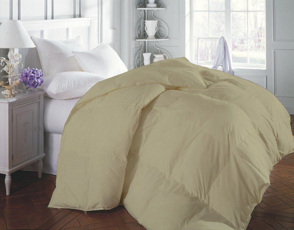 1200 TC Luxurious and Hypoallergenic 100% Egyptian Cotton Comforter Taupe California King By Kotton Culture Solid (Cocoon Feel 400 GSM Medium Weight (Warm Comforter) Microfibre filling)