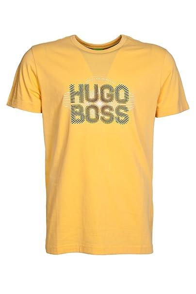 43b98fa1a89a BOSS Hugo Camiseta - Cuello Redondo - Manga Corta - para Hombre Naranja  Naranja Large  Amazon.es  Ropa y accesorios