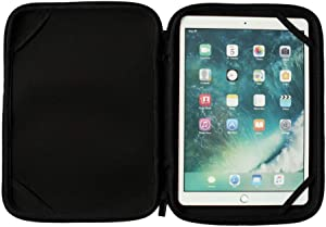 """10 In Neoprene Laptop Sleeve Case 360 Zipper Tablet Bag Protective Cover for 10.5"""" Samsung Galaxy Tab S4 10.5"""" Tab A 10.6"""" Galaxy Book / 10.1"""" Lenovo Yoga Tab / 10"""" Microsoft Surface Go (10-10.5 Inch)"""