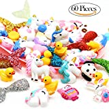 #8: VAMEI 60 PCs Slime Charms with Mermaid Tail Unicorn Resin Flatback of Slime Beads for Ornament Scrapbooking DIY Crafts