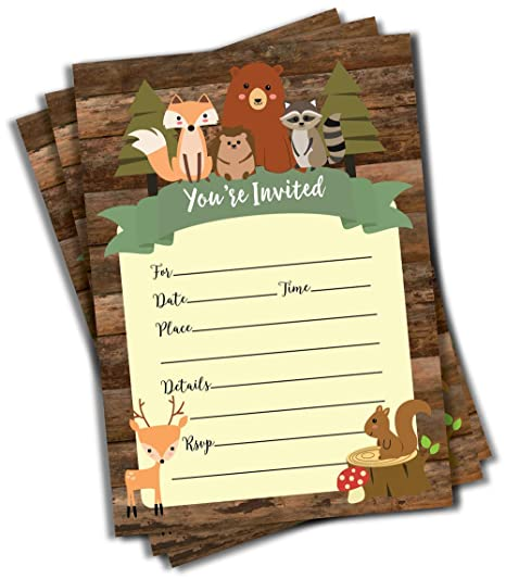 NEW 50 Jungle Invitations 5x7  Baby Shower  Birthday Party  Any Occasion