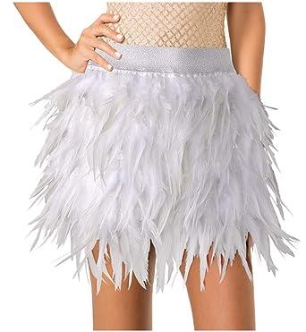 LVOW Sexy Faldas de Mujer Mini A línea Falda de Plumas para ...