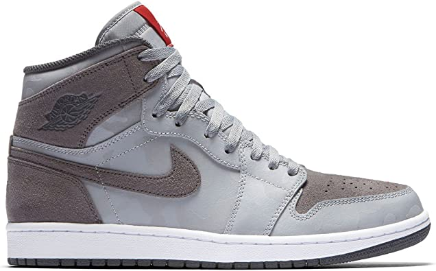 Amazon Com Nike Men S Air Jordan 1 Retro High Prem Wolf Grey