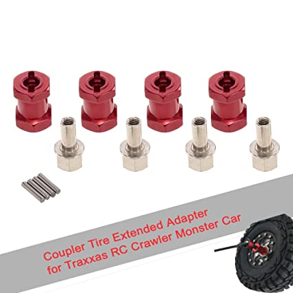 4pcs 12mm Hex 17mm Coupler Tire Extended Adapter for Traxxas Hsp Redcat Rc4wd RC Model Vehicle Parts & Accs Other RC Parts & Accs