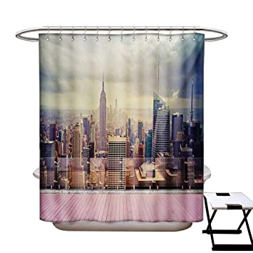 Amazon.com: Modern Shower Curtains Waterproof New York City ...