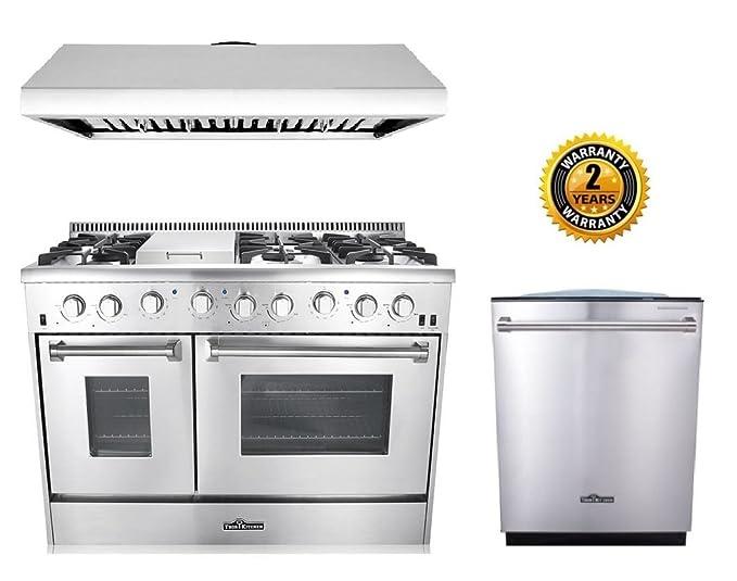 Amazon.com: Thor Cocina 3-Piece Cocina Paquete con hrg4808u ...