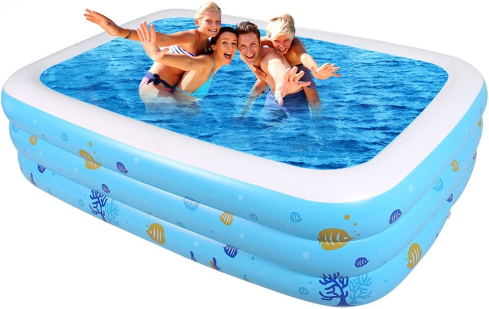 piscina inflable rectangular muy comoda