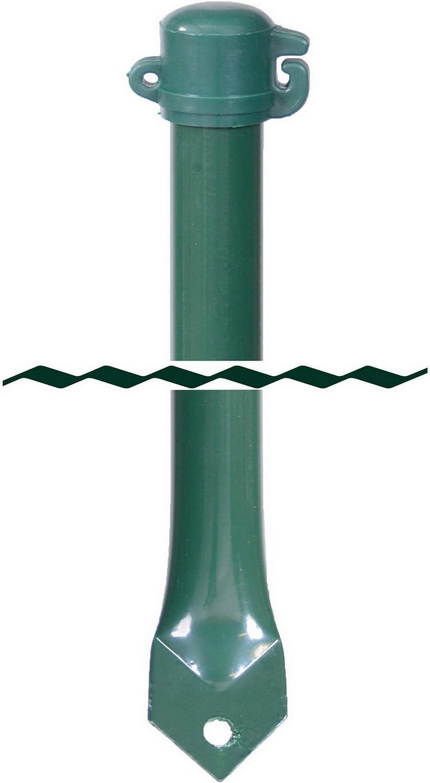 Profishop-Bremen Gartenstab Pfosten Zaunpfosten gr/ün 16 mm Durchmesser 75 cm lang