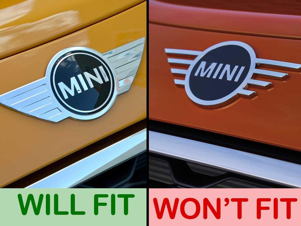 GAZOZ PERFORMANCE Front /& Rear Glossy Black Emblem Badge Cover for 2007-2013 Mini Cooper S R55 R56 R57 Mk2