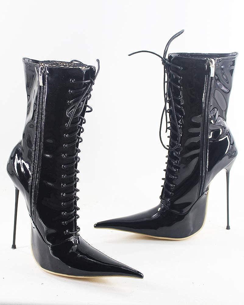 WONDERHEEL Womens Fetish Pointed Toe Boots